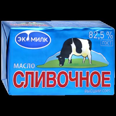 """МАСЛО СЛИВОЧНОЕ """"ЭКОМИЛК"""" 82.5%"""