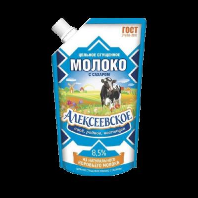 """СГУЩЕННОЕ МОЛОКО """"АЛЕКСЕЕВСКОЕ"""" 8,5% 270 ГРАММ ДОЙПАК"""