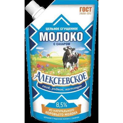 """СГУЩЕННОЕ МОЛОКО """"АЛЕКСЕЕВСКОЕ"""" 8,5% 360 ГРАММ"""